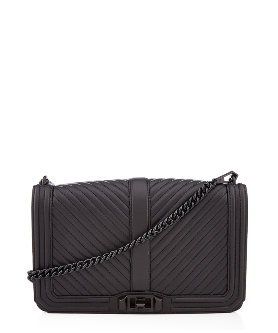 Slim Love black leather crossbody bag Sale - Rebecca Minkoff