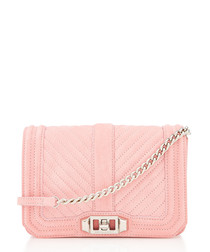 Slim Love pink leather crossbody bag