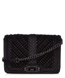 Small Love black velvet quilt crossbody
