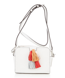 Mini Sofia white leather crossbody