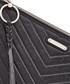 Black leather chevron zip clutch Sale - Rebecca Minkoff Sale