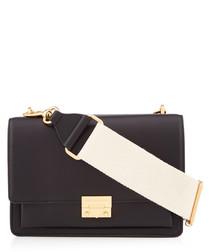 Christy black leather shoulder bag
