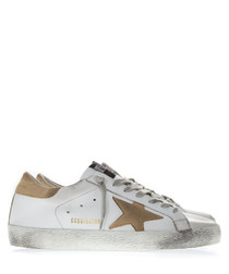 Superstar white & beige leather sneakers