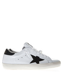 Superstar monochrome leather sneakers