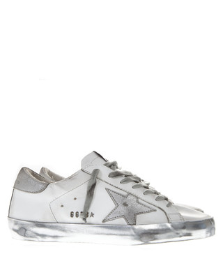 077063a3eadb White   grey leather sneakers Sale - GOLDEN GOOSE Sale