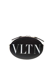 VLTN black calfskin crossbody bag