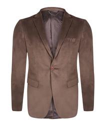 Beige wool blend blazer jacket