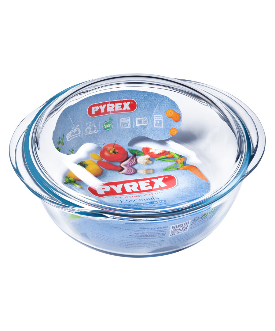 Glass round casserole bowl 27cm Sale - pyrex