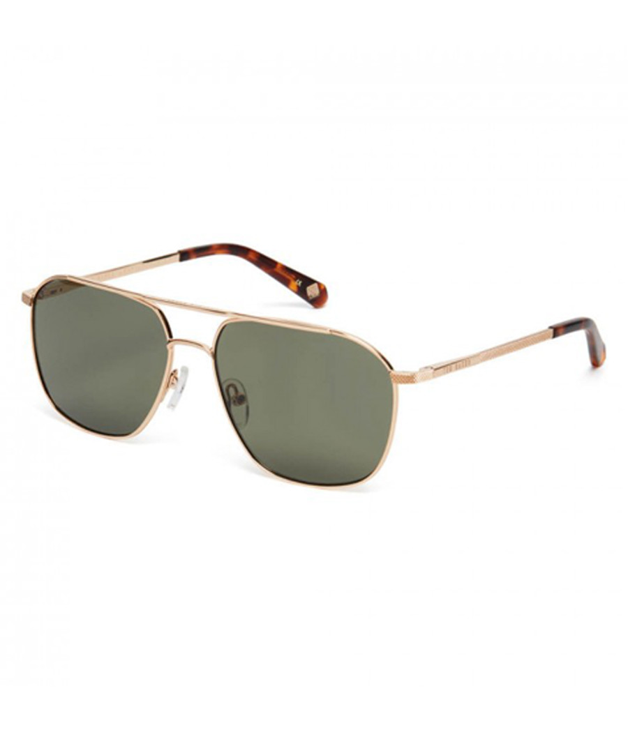 Gold-tone & green squared sunglasses Sale - Ted Baker