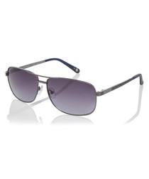 Grey metal top-bar sunglasses