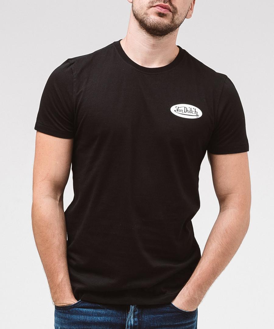Black pure cotton logo T-shirt Sale - von dutch