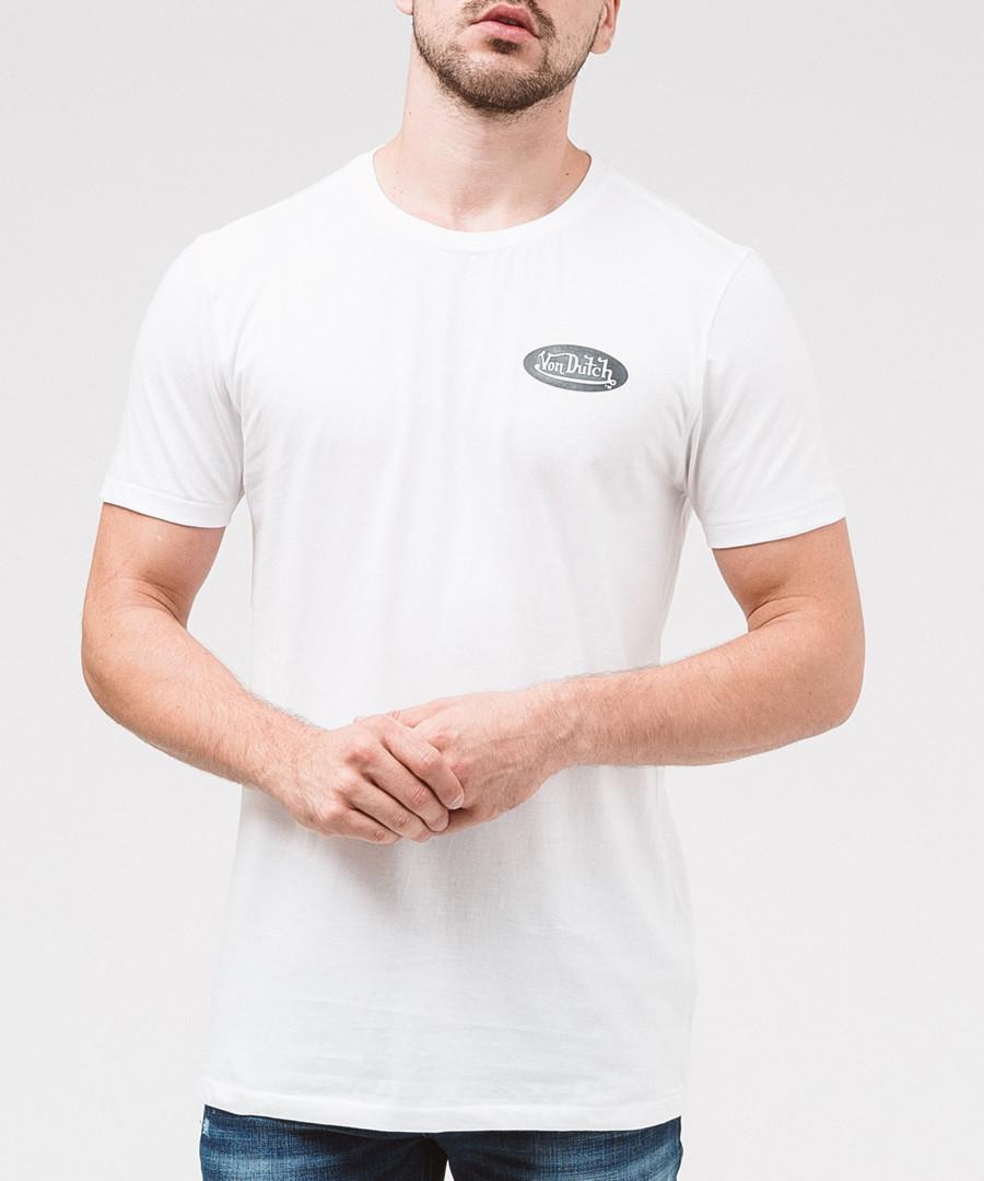 Navy pure cotton logo T-shirt Sale - von dutch
