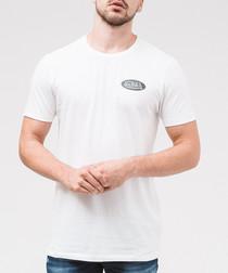 Navy pure cotton logo T-shirt