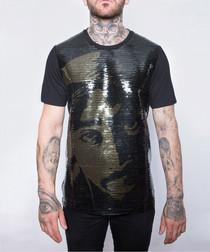 Black pure cotton Makaveli T-shirt