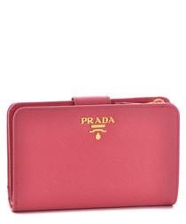 Vitello Move fuchsia calf leather purse