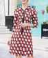 Red geo zip mini dress Sale - ellesay Sale
