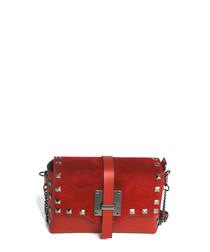 red leather stud crossbody bag
