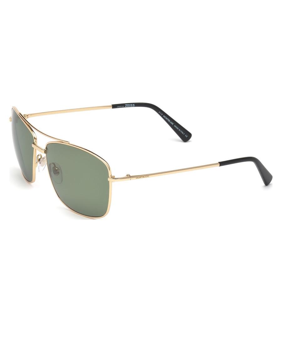gold-tone pilot sunglassses Sale - montblanc