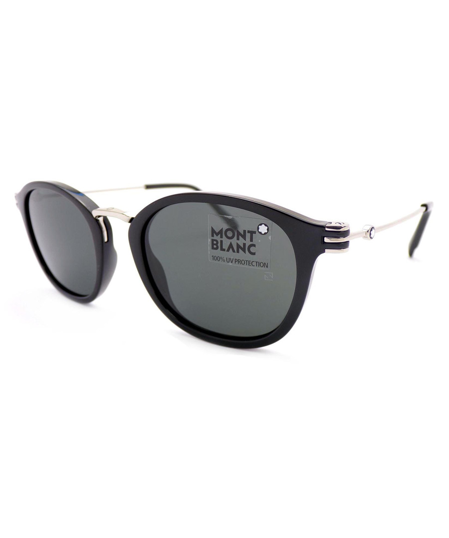black rounded D-frame sunglasses Sale - Montblanc