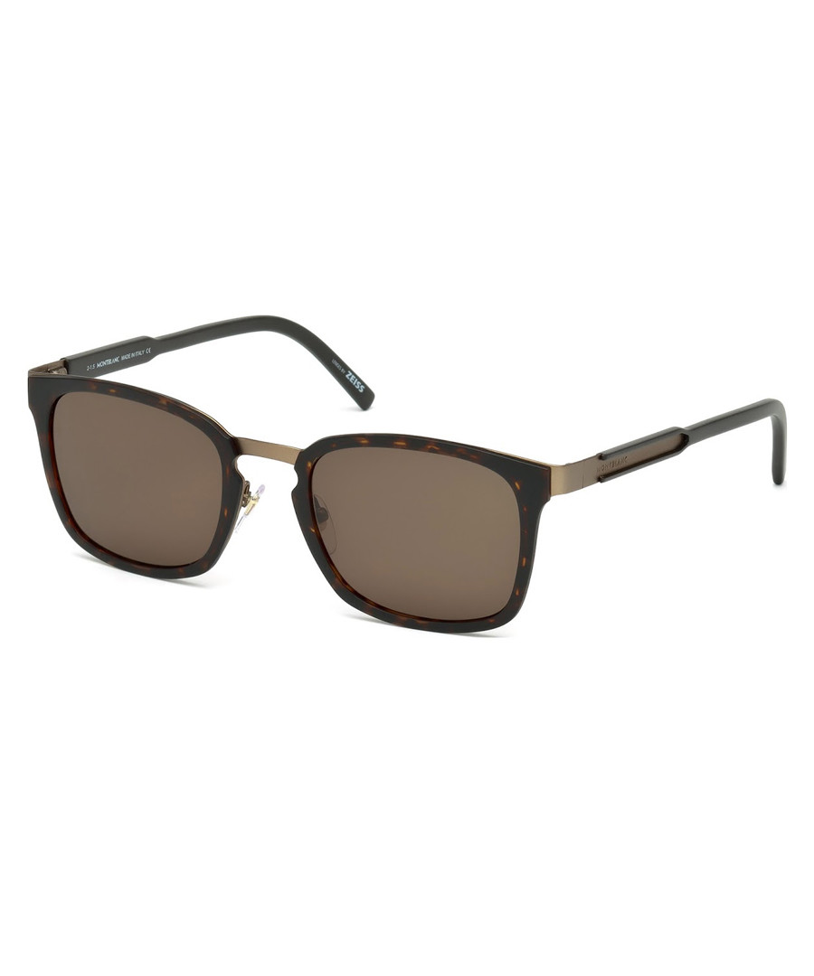 Brown squared sunglasses Sale - montblanc