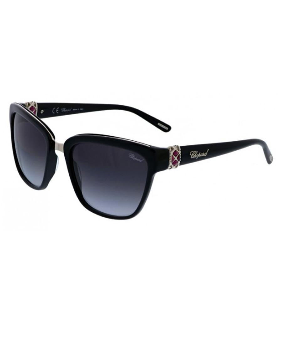 Black squared thick-frame sunglasses Sale - chopard