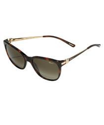 Havana rounded D-frame sunglasses