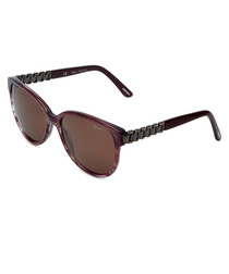 Havana ridge rounded sunglasses