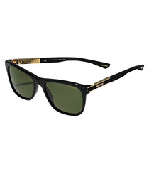 black & green D-frame sunglasses