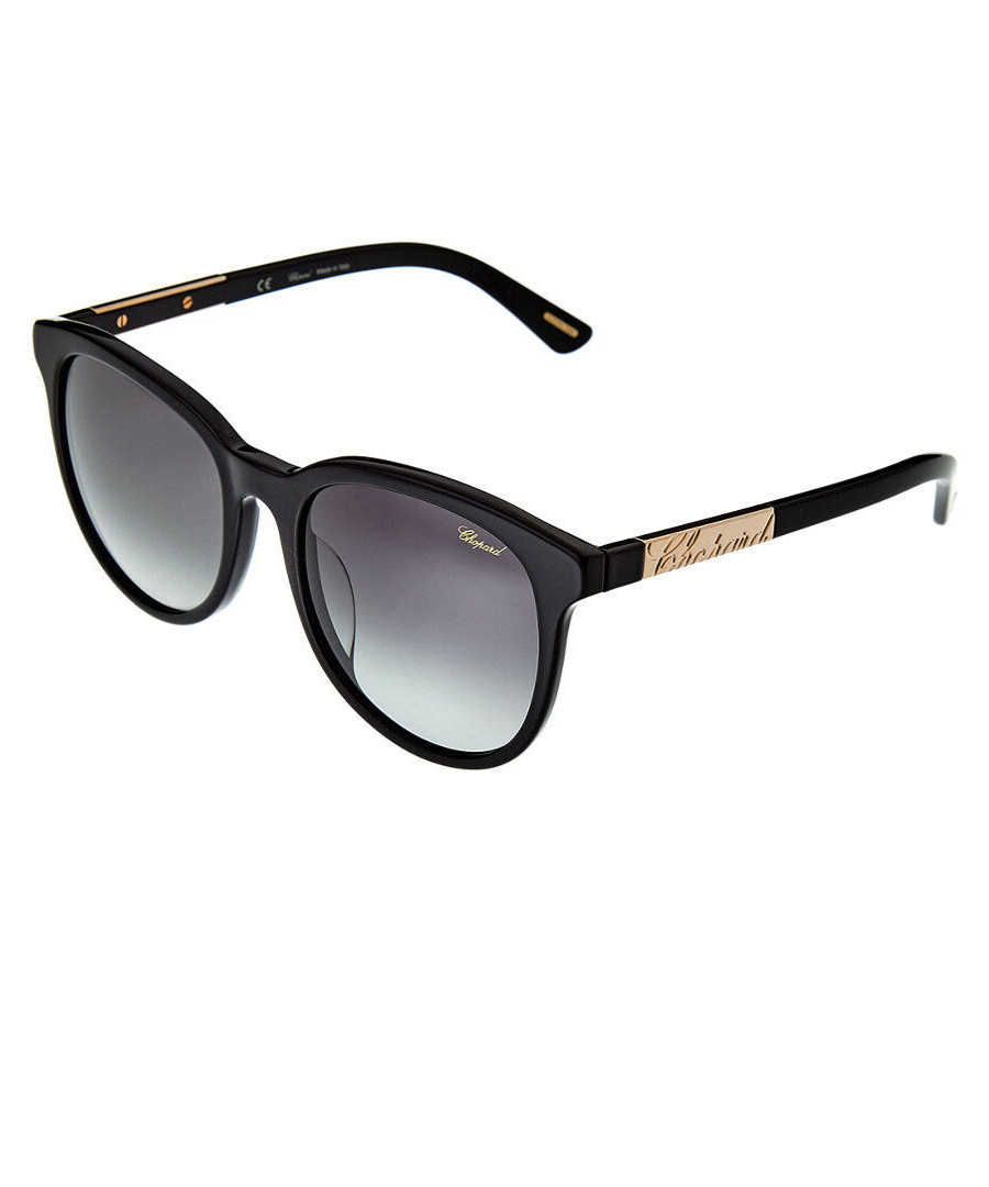 Black rounded D-frame sunglasses Sale - chopard