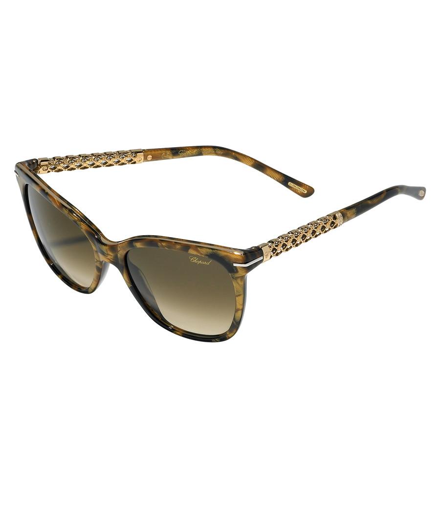 Khaki Havana slim sunglassses Sale - chopard