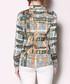 Grey & yellow multi-check blouse Sale - Kaimilan Sale