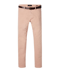 Tan cotton chino trousers