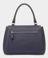 Bathurst II Small indigo leather satchel Sale - Anya Hindmarch Sale