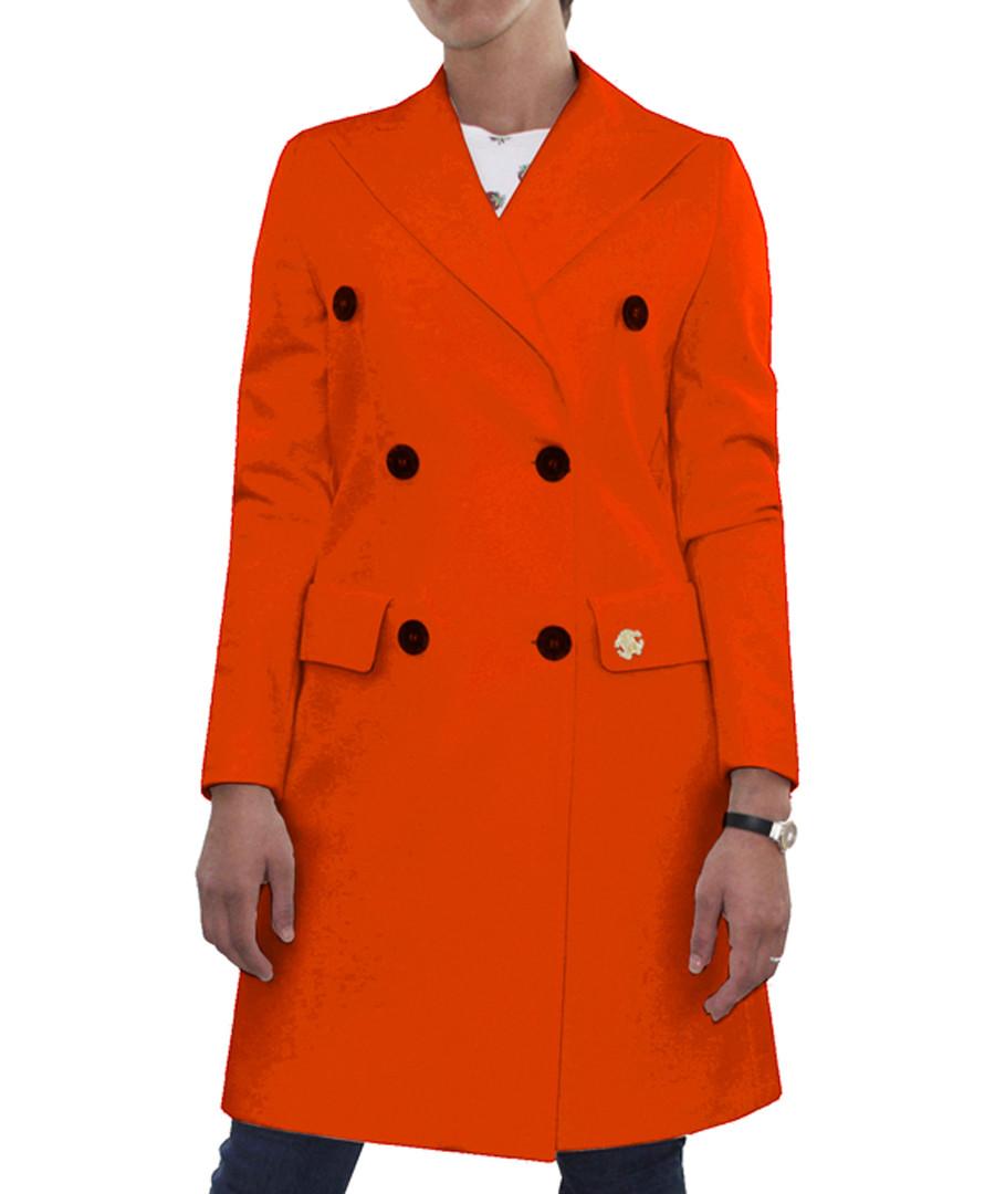 orange wool double-breast coat Sale - roberto cavalli