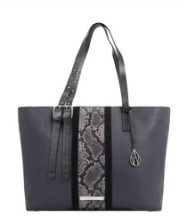 The Stripe Dean midnight leather shopper