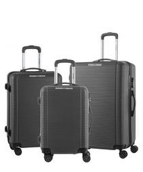 3pc graphite luggage set