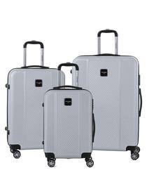 3pc grey luggage set