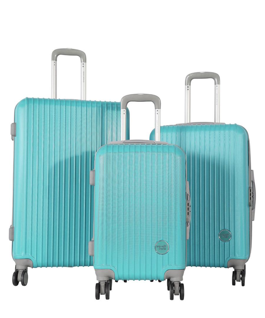 3pc turquoise ridge luggage set Sale - travel world