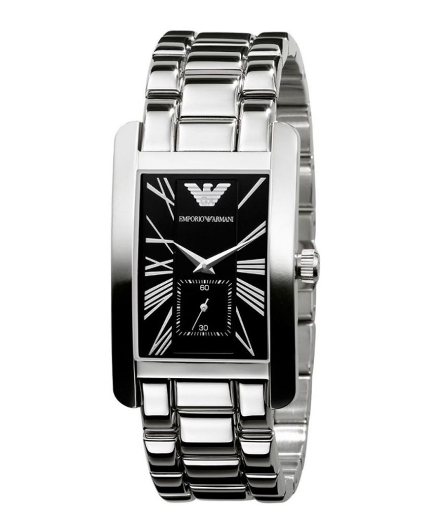 Stainless steel square link watch Sale - emporio armani
