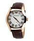 Walnut leather numeral watch Sale - emporio armani Sale