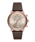 Brown leather & stainless steel watch Sale - emporio armani Sale