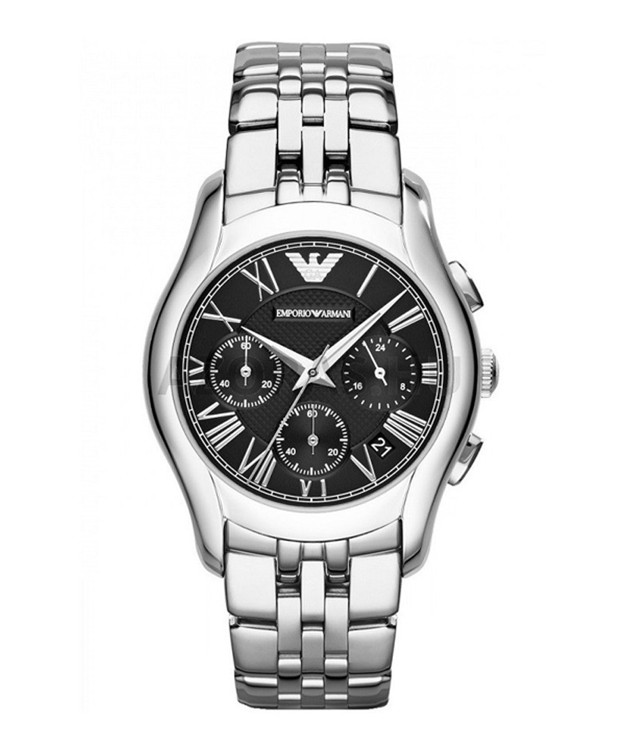 Stainless steel chrono link watch Sale - emporio armani