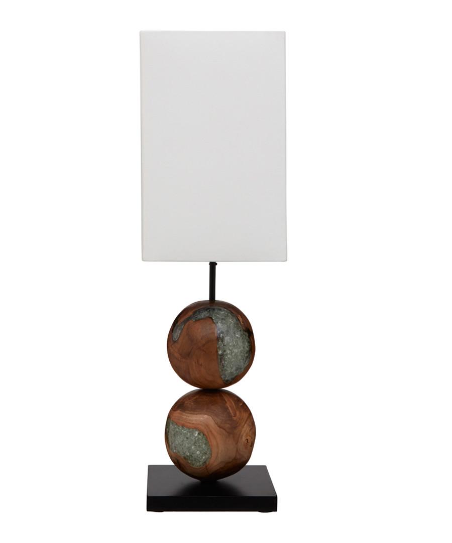 Hestina linen & resin table lamp Sale - premier