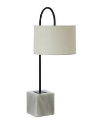 Murdoch marble & linen table lamp