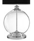 Edna glass & black linen table lamp Sale - premier Sale