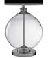 Edna Small Table Lamp, Clear Glass / Chrome, Black Silk Shade Sale - premier Sale