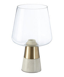 Edison Lamp glass & marble
