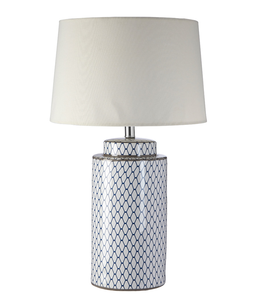 Cream linen & ceramic table lamp Sale - premier