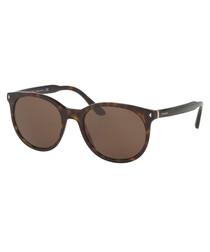 Havana & brown D-frame sunglasses