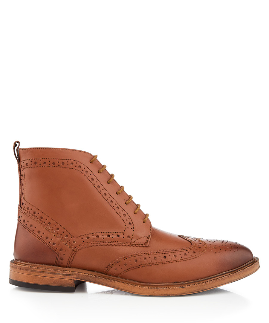 Boston tan perforated ankle boots Sale - kurt geiger